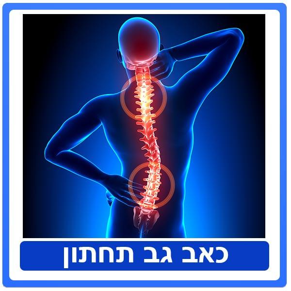טיפול פיזיותרפיה בכאב גב תחתון / פריצת דיסק / סיאטיקה - אקוטי וכרוני